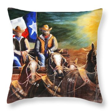 Going Home.  Throw Pillow