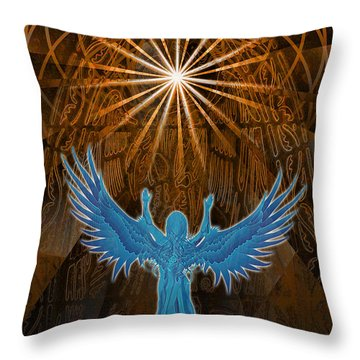 Throw Pillow featuring the digital art Going Home by Kenneth Armand Johnson