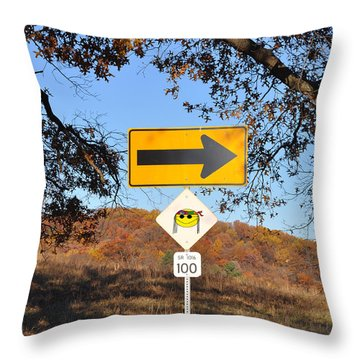 Going My Way Throw Pillow by Bill Cannon