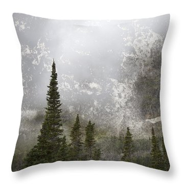 Going To The Sun Road Throw Pillow by John Stephens