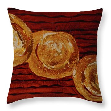 Gold Breasts Abstract Throw Pillow by Dede Shamel Davalos