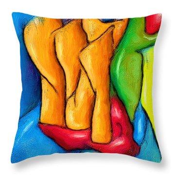 Gold Fingers Throw Pillow