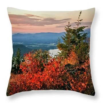 Throw Pillow featuring the photograph Gold Hill Sunset by Albert Seger