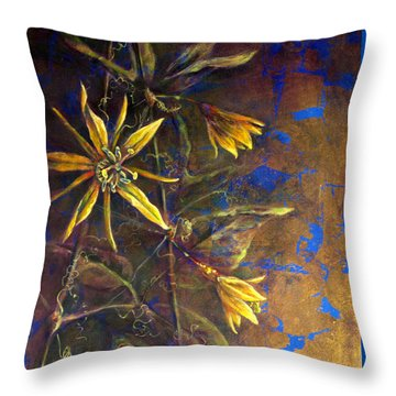 Gold Passions Throw Pillow