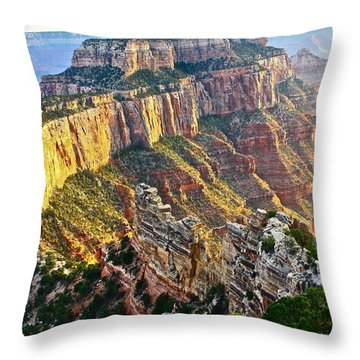 Gold Rim Throw Pillow