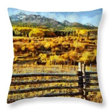 Golden Autumn Throw Pillow by Jeff Kolker