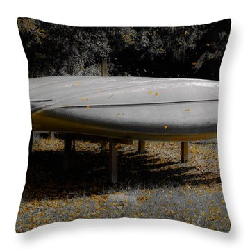 Golden Autumn Shower Throw Pillow by DigiArt Diaries by Vicky B Fuller