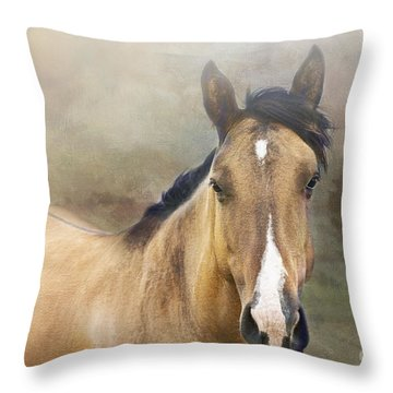Dun Horse Throw Pillows