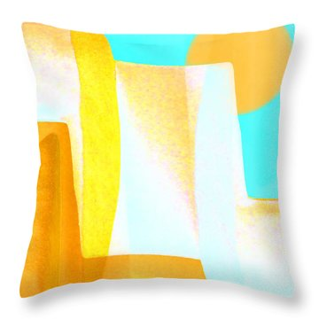 Golden Canyons Throw Pillow by Carol Leigh
