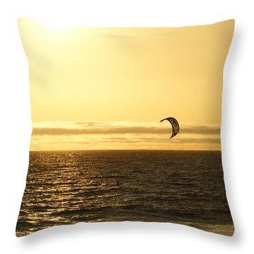 Golden Day Throw Pillow by Ernie Echols