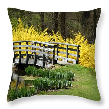 Golden Days Of Spring Throw Pillow