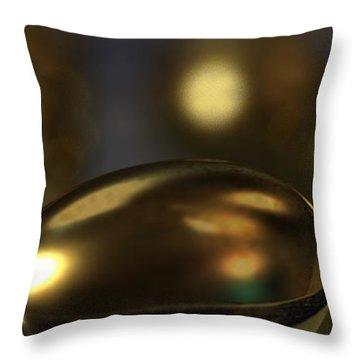 Golden Eggs Throw Pillow