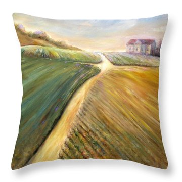 Golden Fields Throw Pillow