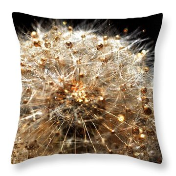 Throw Pillow featuring the photograph Golden Flower by Sylvie Leandre