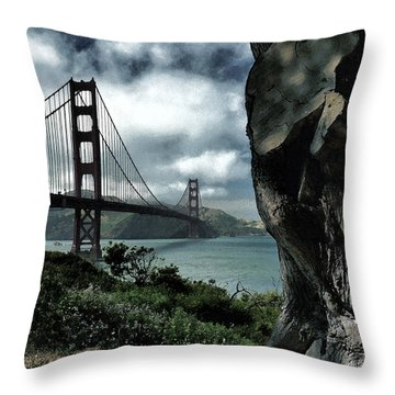 Throw Pillow featuring the photograph Golden Gate Bridge - 4 by Mark Madere