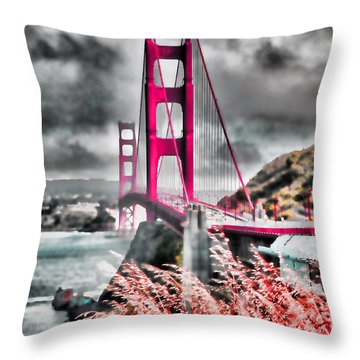 Throw Pillow featuring the photograph Golden Gate Bridge - 5 by Mark Madere