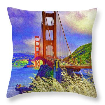 Throw Pillow featuring the photograph Golden Gate Bridge - 6 by Mark Madere