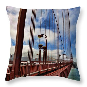 Throw Pillow featuring the photograph Golden Gate Bridge - 7 by Mark Madere