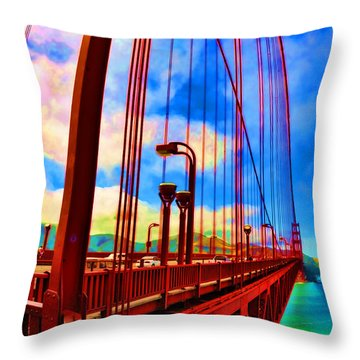 Throw Pillow featuring the photograph Golden Gate Bridge - 8 by Mark Madere