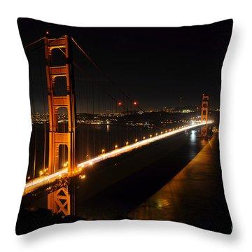 Throw Pillow featuring the photograph Golden Gate Bridge 2 by Vivian Christopher