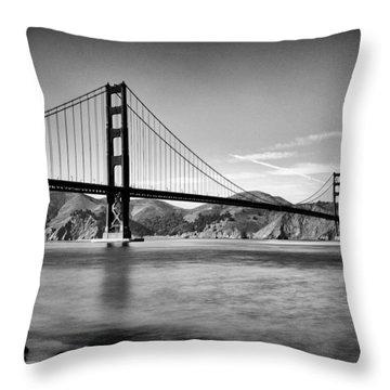 Golden Gate Bridge Throw Pillow by Tanya Harrison