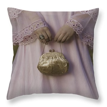 Golden Handbag Throw Pillow by Joana Kruse