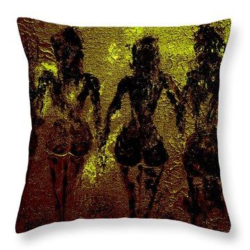 Golden Harmony Throw Pillow by Piety Dsilva