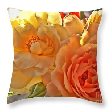Throw Pillow featuring the photograph Golden Light by Debbie Portwood