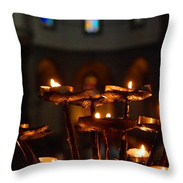 Golden Lights Throw Pillow by Dany Lison