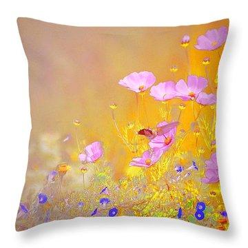 Throw Pillow featuring the photograph Golden Meadows by John  Kolenberg