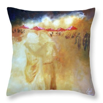 Golden Memories Throw Pillow by Keith Thue