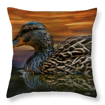 Golden Morning Throw Pillow by Jan Cipolla