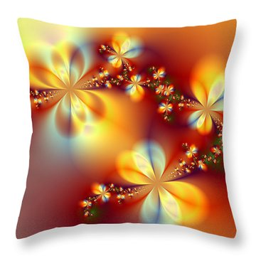 Golden Paradise Throw Pillow by Ester  Rogers
