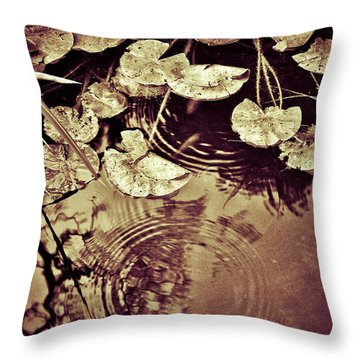 Golden Pond Throw Pillow by Silvia Ganora
