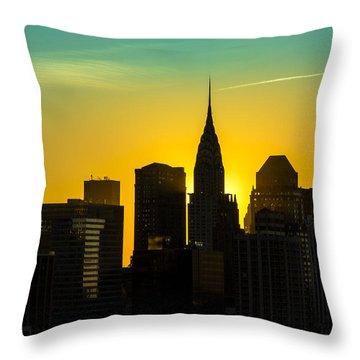 Golden Rise Throw Pillow by Janet Fikar