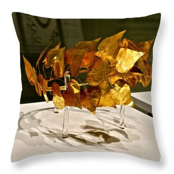 Golden Roman Crown Throw Pillow by Kirsten Giving