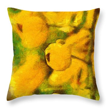 Golden Shower Throw Pillow