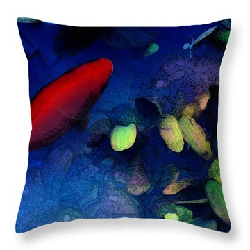 Goldfish Throw Pillow by Ron Jones
