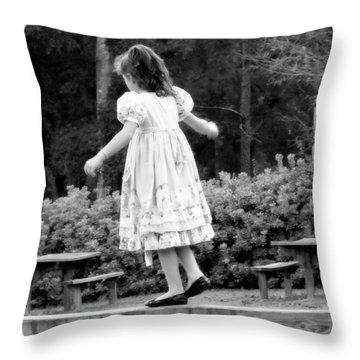 Goldilocks Throw Pillow by Karen Wiles