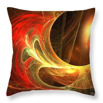 Goldwrap Throw Pillow by Kim Sy Ok