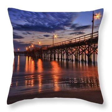 Goleta Pier Throw Pillow