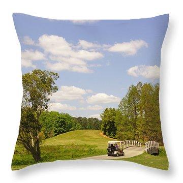 Golf At Calloway Gardens Throw Pillow