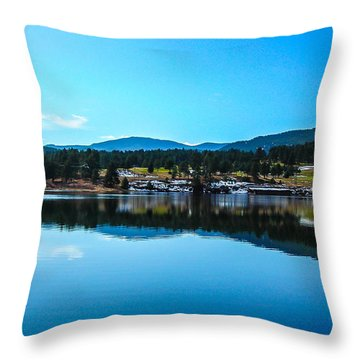 Throw Pillow featuring the photograph Golf Course by Shannon Harrington