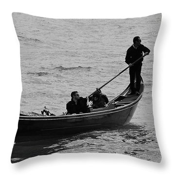 Throw Pillow featuring the photograph Gondola  by Eric Tressler