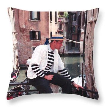 Gondolero  Throw Pillow