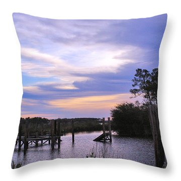 Throw Pillow featuring the photograph Gone Fishin.. by Brian Wright