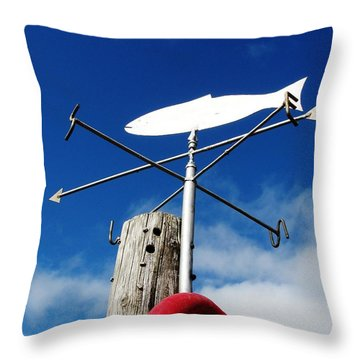 Throw Pillow featuring the photograph Gone Fishing by Charlie and Norma Brock