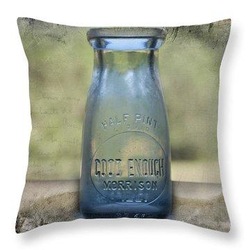 Good Enough Throw Pillow by David Arment