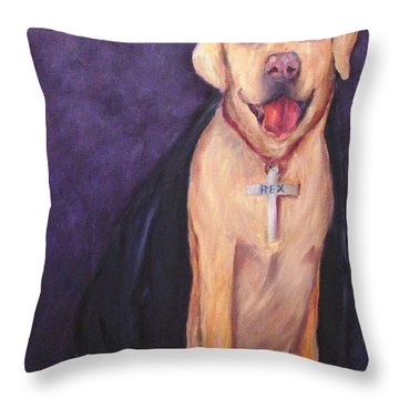 Good Habit Rex Throw Pillow