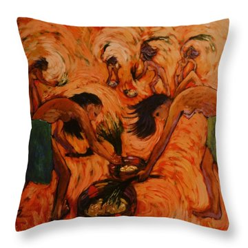 Throw Pillow featuring the painting Good Harvest by Charles Munn